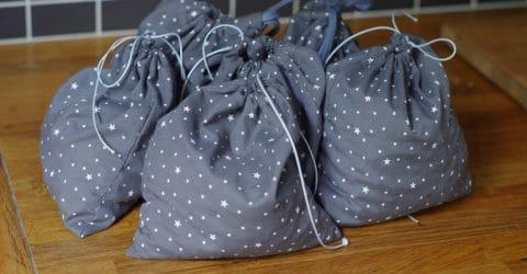 sacs dans panier